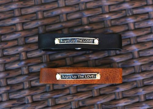women black and brown light up the love bracelet