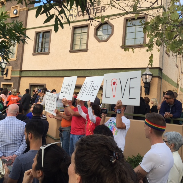 Lighting Up The LOVE at the SD LGBT Community Center
